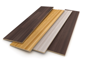 Adhesives between boards.