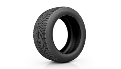 rubber tire on a white background
