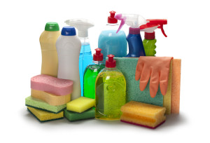 stock cleaning products